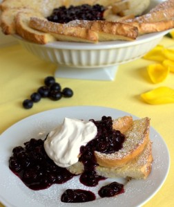 Grand Marnier & Blueberry French Toast