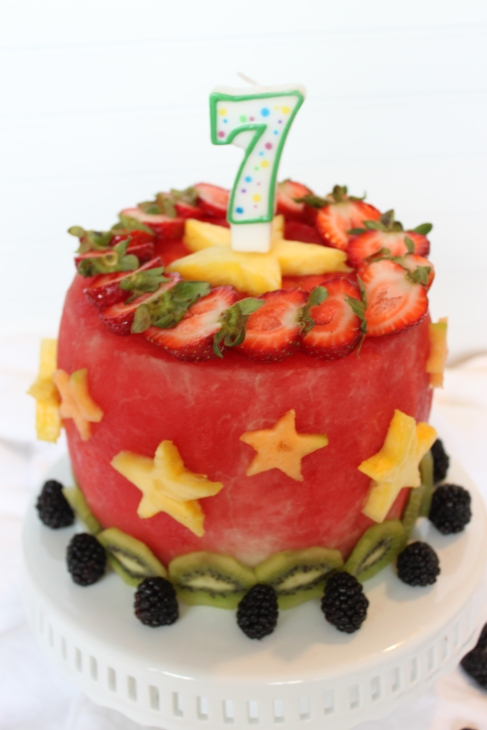 Watermelon Cake - A tribute to my nephew Zack!