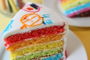 Rainbow Doodle Cake